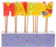 Procos Свечи-буквы для торта детские Винни Happy Birthday