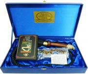 """ASK P08-023 Подарочный набор """"кнут и пряник"""" с латунной ручкой и..."""