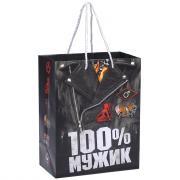Подарочный пакет «На все 100% мужик»