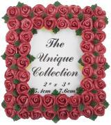 """Декоративная фоторамка Home Queen """"Букет роз"""", цвет: бордовый, 5,1 см..."""