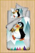 """Постельное детское белье Karven """"Пингвин"""" 3д (3d)"""