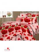 Комплект постельного белья 1,5-спальный (70*70 см) Романтика, цвет...