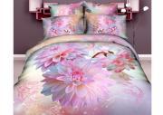 """Комплект белья """"Mango"""", 1,5-спальный, наволочки 70x70, цвет: розовый,..."""