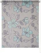 "Штора рулонная Уют ""Камелия"", цвет: серый, голубой, 50 х 175 см"