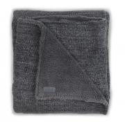 Плед Jollein Вязаный с мехом Natural knit anthracite 75x100