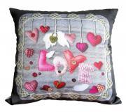 Подушка декоративная PLW-35 Love Сердечки любви 35x35 см. Наволочка на...