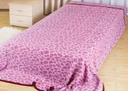 "Покрывало летнее Soavita ""Леопард"", цвет: розовый, 180 х 220 см"