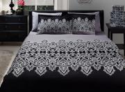 """Комплект белья TAC """"Edna"""", 1,5-спальный, наволочки 50x70, цвет: белый,..."""