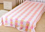 "Покрывало летнее Soavita ""Круги"", цвет: розовый, 180 х 220 см"