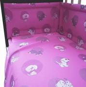 """Комплект в кроватку Фея """"Наши друзья"""" 6 предметов, розовый"""
