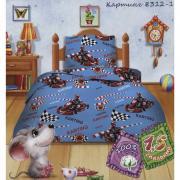 """Постельное белье Кошки-мышки """"Картинг"""" (1,5 спальный КПБ, бязь,..."""