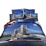 Набор постельного белья Город двуспальное