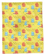 Bonne Fee Плед детский Слоны цвет желтый 100 см х 70 см