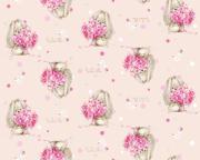 """Плед флисовый Mona Liza """"Зайка с цветами"""", цвет: розовый, размер 150..."""