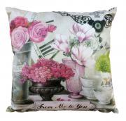 """Подушка декоративная Gift'n'Home """"Парижские цветы"""", 35 х 35cm."""
