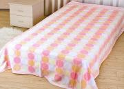 "Покрывало летнее Soavita ""Круги"", цвет: розовый, 150 х 200 см"