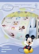 Постельное белье для новорожденных Мона Лиза бязь Микки в клетку