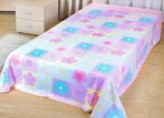 "Покрывало летнее Soavita ""Цветы"", цвет: розовый, 150 х 200 см"