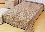 "Покрывало летнее Soavita ""Леопард"", цвет: бежевый, 180 х 220 см"