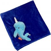 Zoocchini Одеяло с игрушкой Кит