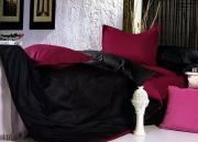 Однотонное постельное белье Сатин Евро DT758-16