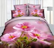 """Комплект белья 3D """"Mango"""", 2-спальное, наволочки 70x70, цвет: розовый,..."""