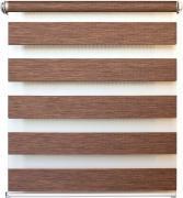 """Штора рулонная день/ночь Уют """"Канзас"""", цвет: коричневый, 50 х 160 см"""