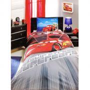 """Постельное белье """"Cars Face Movie"""" (1,5 спальный детский КПБ, ранфорс,..."""
