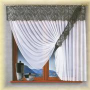 """Комплект штор Wisan """"Benita"""", на ленте, цвет: белый, графит, высота..."""