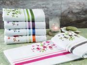 Махровое полотенце TAC 50x90 с вышивкой Legrand бежевый