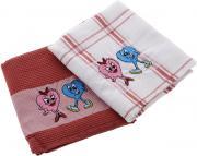 """Набор кухонных полотенец Soavita """"Подарочное"""", цвет: белый, красный,..."""