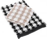 """Набор кухонных полотенец Toalla """"Сердечки"""", цвет: черный, бежевый, 50..."""