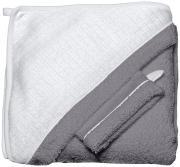 Red Castle Махровое полотенце с уголком + варежка цвет белый