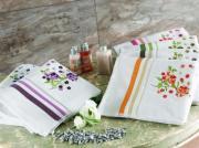 Махровое полотенце TAC 50x90 с вышивкой Fusion бежевый