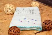 Детское голубое бамбуковое полотенце 68x136