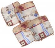 """Набор подушек для стула """"Eva"""", цвет: бежевый, коричневый, 34 х 34 см,..."""
