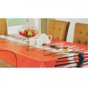 """Скатерть White Fox """"Осень"""", овальная, цвет: красный, оранжевый, 152 x..."""