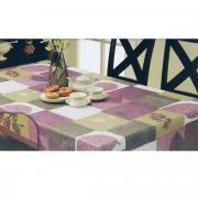 """Скатерть White Fox """"Лист"""", овальная, цвет: сиреневый, серый, 152 x 228..."""