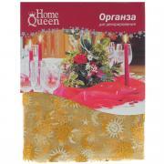 """Органза для декорирования """"Home Queen"""", цвет: золотистый, 100 см х 100..."""
