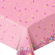 Barbie Сервировка праздничного стола детям Скатерть Барби