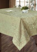 """Комплект столового белья """"SL"""", цвет: бежевый, 7 предметов. 10112"""