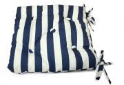 """Подушка на стул """"Виго"""", цвет: синий, белый, 40 см х 40 см"""