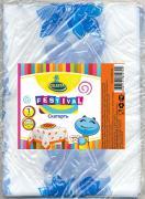 """Скатерть одноразовая Celesta """"Festival"""", цвет: синий, белый, 120 x 150..."""