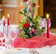 """Органза для декорирования """"Home Queen"""", цвет: красный, 100 х 100 см..."""