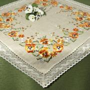 """Скатерть Schaefer """"Цветы"""", квадратная, 100 x 100 см"""