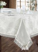 SL 10096 Комплект столового белья 5 предметов, серебристый.