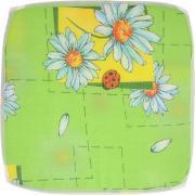"Подушка на стул Eva ""Ромашка"", цвет: зеленый, голубой, 34 х 34 см"