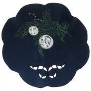 "Салфетка Home Queen ""Ветка"", цвет: синий, диаметр 30 см"