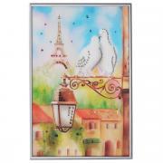 "Картина с кристаллами Swarovski ""Голуби в Париже"", 20 см х 30 см"
