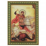 "Картина с кристаллами Swarovski ""Икона. Георгий Победоносец"", 12 см х..."